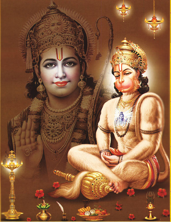 Sri Hanumanji in eternal meditation on Lord Ram