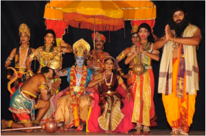 A dance company presents a classic interpretation of Ramayana
