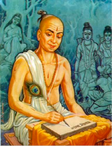 Saint Tulsidas, author of the Hanuman Chalisa, and the Hindi recounting of Ramayana